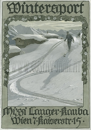 Gustav Jahn Cover Wintersport um 1913